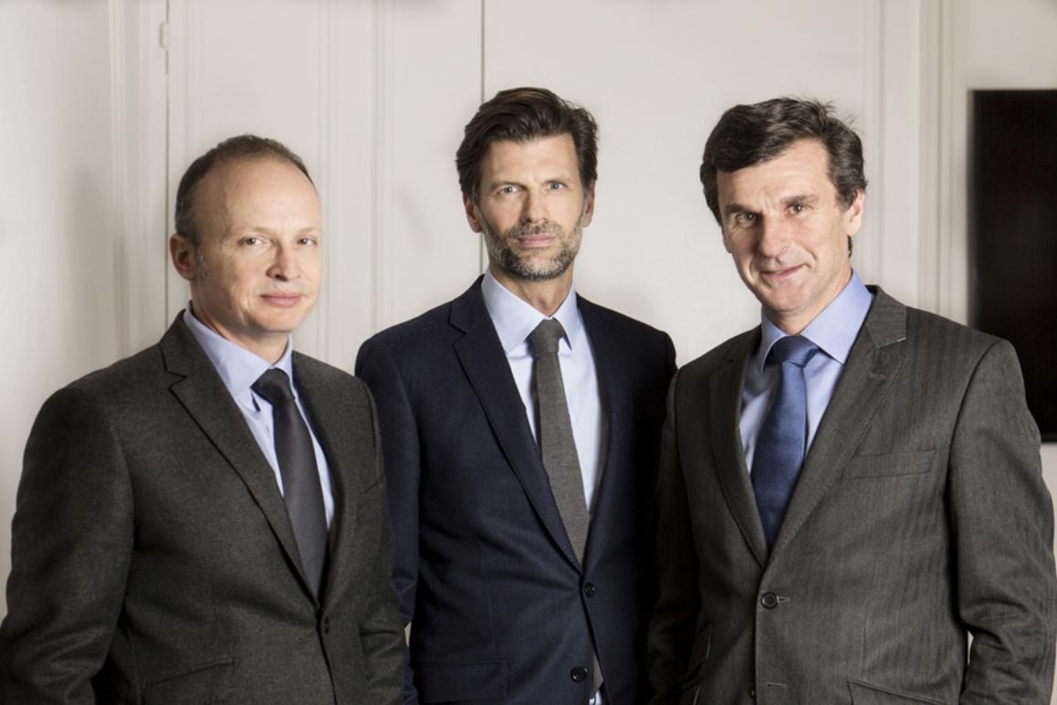 Fabrice Fraikin, Florian de Sigy et Stephan Cromback, associés de Flexam Invest